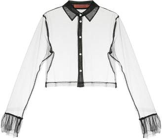 Manning Cartell Delight sheer cropped shirt