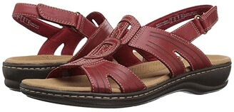 Clarks Leisa Vine (Red Leather) Women's Sandals