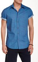 Slate & Stone Trim Fit Short Sleeve Printed Woven Shirt