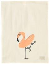 ANNABEL KERN My ami Pink Flamingo Tea Towel