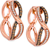 LeVian Le Vian Chocolatier® Diamond Hoop Earrings (3/8 ct. t.w.) in 14k Rose Gold