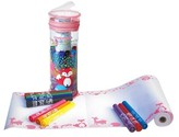 The Piggy Story Create & Doodle Roll Travel Set - Woodland Animals