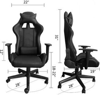 Orren Ellis High-Back Swivel Ergonomic PC & Racing Game Chair Orren Ellis Color: Black