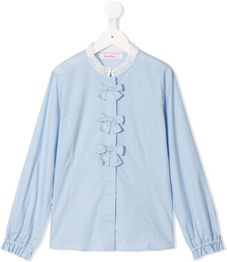 Familiar Bow Detail Shirt