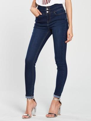 Very New Macy High Waisted Skinny Jean - Dark Wash