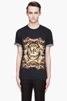McQ by Alexander McQueen Black and green Bleached Fly logo t-shirt