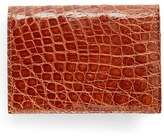 Boconi Men's Crocodile Card Case - Brown