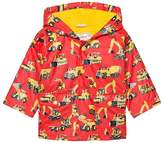 Hatley Red Diggers Print Fleece Lined Raincoat