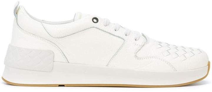 Bottega Veneta latte calf grand sneaker