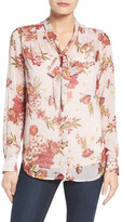 KUT from the Kloth Amelie Tie Neck Floral Blouse