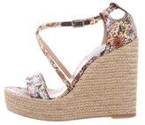 Tabitha Simmons Espadrille Wedge Sandals