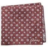 Brioni Scratch Medallion Silk Pocket Square
