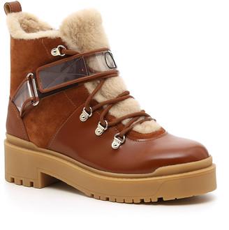 Valentino Garavani Sherling and Leather Winter Boots