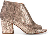 Maison Margiela Metallic Snake-effect Leather Ankle Boots - Gold
