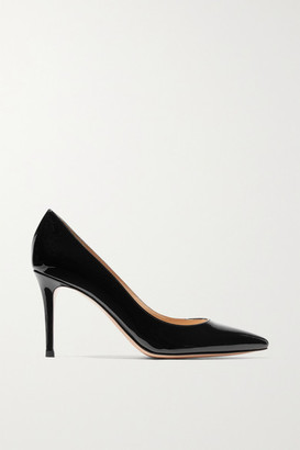 Gianvito Rossi 85 Patent-leather Pumps - Black