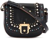 Paula Cademartori studded saddle cross body bag - women - Calf Leather/Brass - One Size