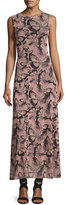 Fuzzi Sleeveless Butterfly-Print Maxi Dress, Pink Multi