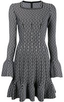 Alaia fluted knit dress