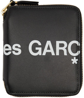 Comme des Garcons Wallets Black Huge Logo Zip-Around Wallet