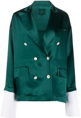 Jejia Extended-Cuff Double Breasted Blazer