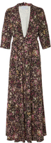 Luisa Beccaria M'O Exclusive Floral Print Gown