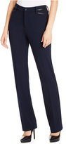 NYDJ Marilyn Tummy-Control Straight-Leg Ponté Pants