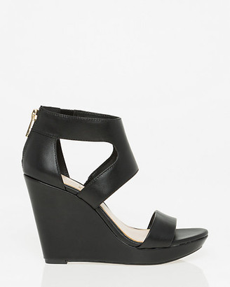 Le Château Leather Cutout Wedge