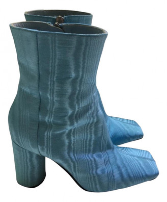 Ellery Turquoise Cloth Ankle boots