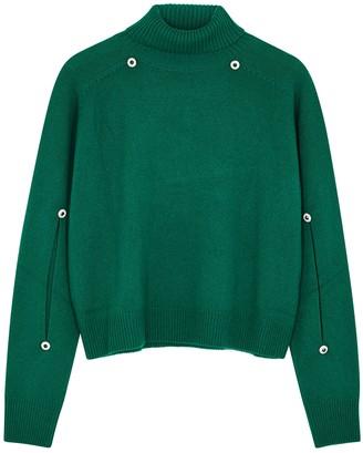 Christopher Kane Green embellished wool-blend jumper