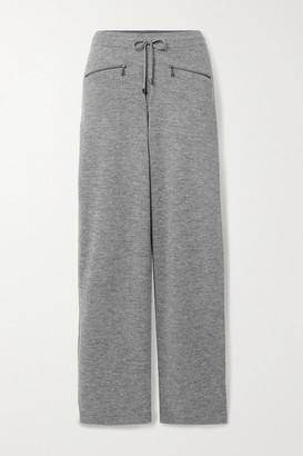 Bogner Allegra Melange Wool Track Pants - Gray