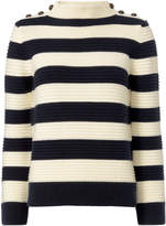 Intermix Magdalena Striped Cropped Sweater