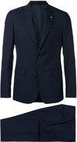 Lardini flap pockets two-piece suit - men - Cotton/Cupro/Viscose/Wool - 48