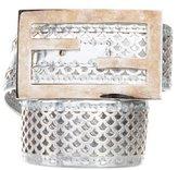 Fendi Metallic Logo Belt