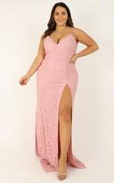 Showpo Always Extra Dress in blush lace - 18 (XXXL) Dresses