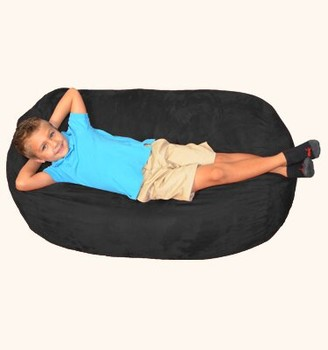 Breton Large Bean Bag Chair & Lounger Bay Isle Home Upholstery: Black