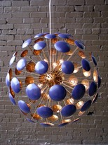 The Well Appointed House Bilbao Purple Gloss and Gold Leaf Chandelier