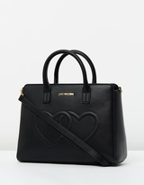 Love Moschino Double Heart Hand Held Tote