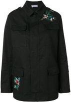 RED Valentino embroidered cargo jacket - women - Silk/Cotton - 40