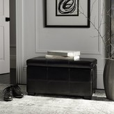 Safavieh Maiden Faux leather Flip top Storage Bench Color: Black