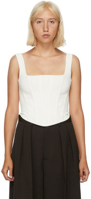 Dion Lee White Pointelle Corset Top