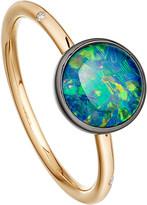 Astley Clarke Opal uranus 14ct gold ring