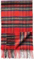 Red Tartan Cashmere Scarf Size Osfa By Charles Tyrwhitt