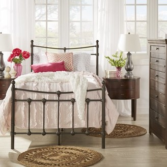 Weston Home Ossett Antique Brown Shell Motif Metal Bed, Multiple Sizes