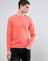 Asos Lightweight Muscle Sweatshirt In Pink