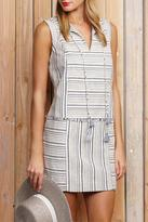 Greylin Stripe Fringe Dress