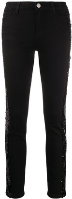 Twin-Set Sequin-Embellished Skinny Jeans
