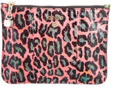 Kenzo Snakeskin-Accented Zip Pouch