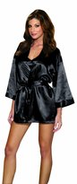 Dreamgirl Women's Shalimar Charmeuse Babydoll with Robe and Padded Hanger