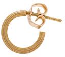 Afin Atelier Small Single Hoop Earring in Metallics.