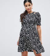 Asos Printed Tea Dress In Spot